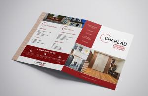 projet portfolio : plaquette papier Charlad