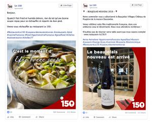 projet portfolio : Ligne graphique restaurant Le 150