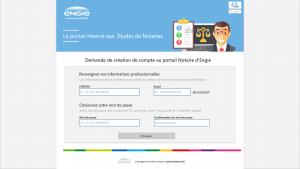 projet portfolio : Prototype Portail Notaire engie