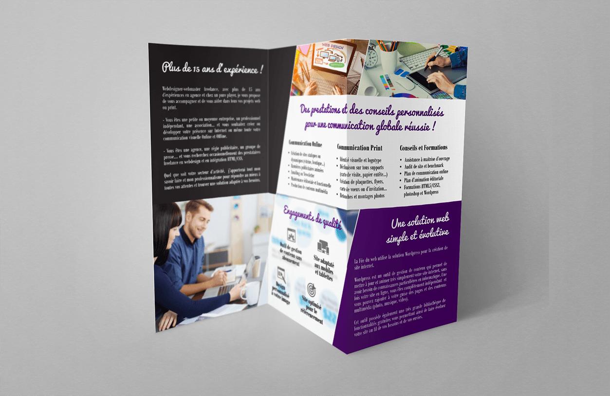 projet portfolio : Flyer Fée du web !