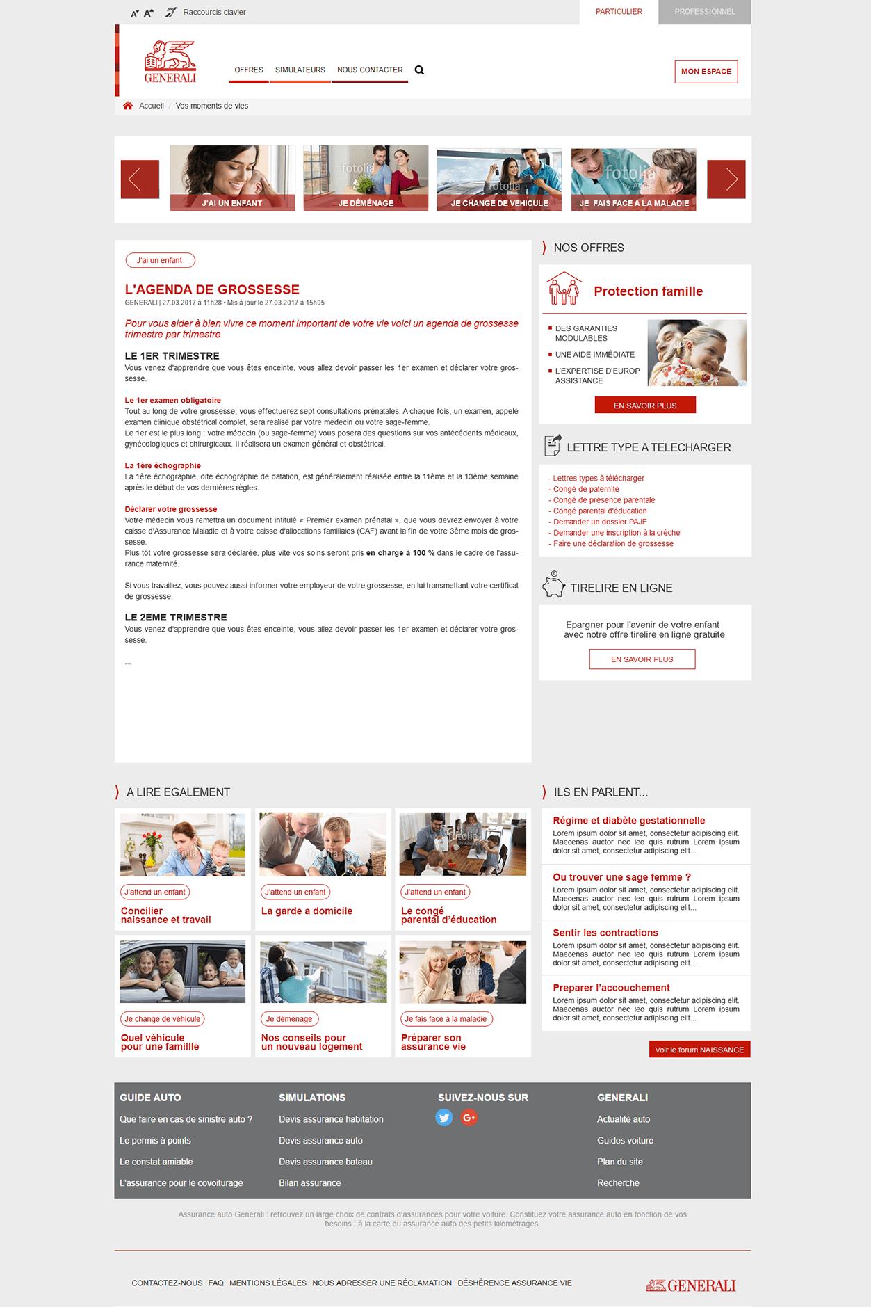 projet portfolio : Maquette Graphique Générali